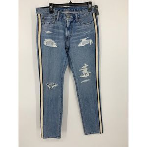 New Abercrombie & Fitch 32x34 distressed jeans